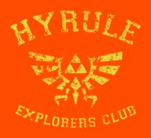 Hyrule Explorers Club Dark Kids Clothes