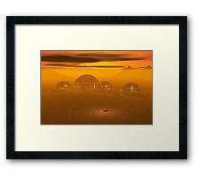Domed city on an alien planet Framed Print