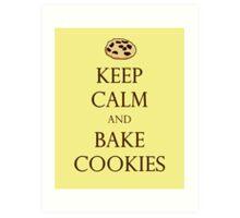 Yellow Keep Calm and Bake Cookies Art Print