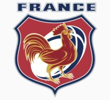 rooster cockerel france rugby shield by patrimonio