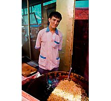 Market Plov man Photographic Print