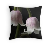 Lily of the Valley Rosea in flower Throw Pillow