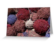 Carpet workshop threads Greeting Card
