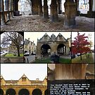 Chipping Campden UK Market Hall collage by BronReid