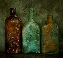 Three Old Bottles by Barbara Ingersoll