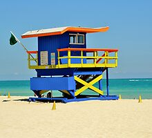 Lifeguard Station by Rene  Triay