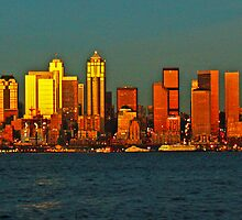 Seattle at sunset by michael6076