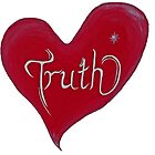 Red Truth Heart by debrajacka