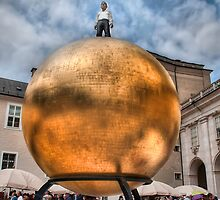 Big man on big ball by Sylvain Dumas