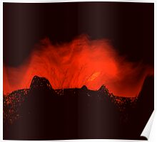 ancient times..... volcano fire  Poster