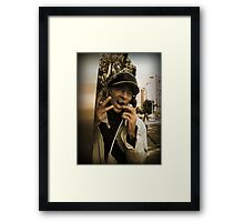Please, don't hang up the phone!!! Framed Print