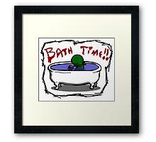 Bathe the elder god!! Framed Print