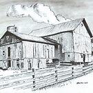 Rustic Barn by WienArtist