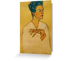 After Egon Schiele (Austria 1890-1918) 'Self Portrait with hands on chest'. 1910 © Greeting Card