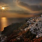 Sunset in Oia by Peter Hammer