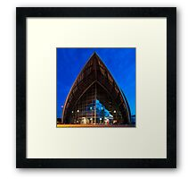 Armadillo, Glasgow, Scotland Framed Print