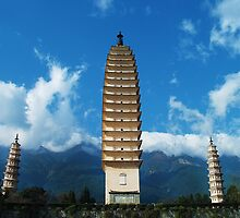 Three Pagodas by Jennifer Lam