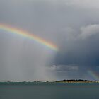 Rain and rainbow, Brittany by Gary Eason