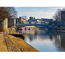 The River Ouse & Lendal Bridge - York Photographic Print