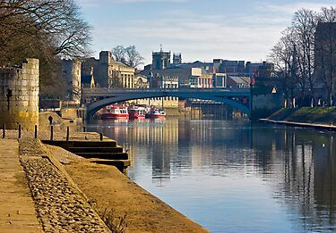 The River Ouse & Lendal Bridge - York by Trevor Kersley