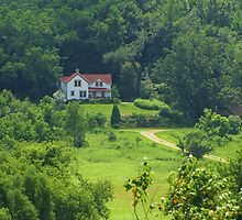 Farm House in the Woods by lorilee