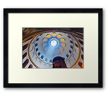 Jerusalem: The Church of the Holy Sepulcher dome. Framed Print