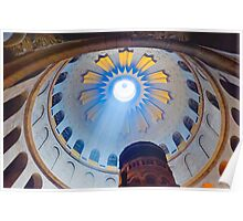 Jerusalem: The Church of the Holy Sepulcher dome. Poster