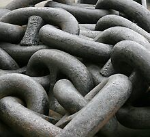 Boat Chains work of art by Keith Larby