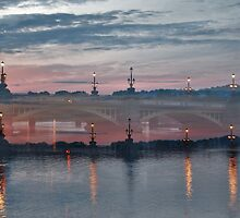 Dusk Over St, George Street Bridge Newport South Wales. by - nawroski -