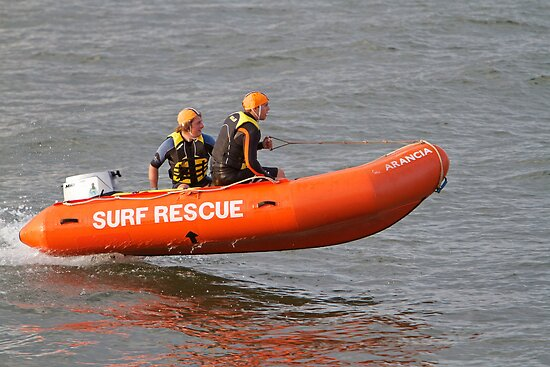 Dawlish Warren life guards in action. by Keith Larby
