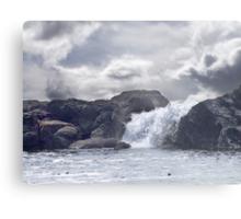 Ocean Waterfall Metal Print