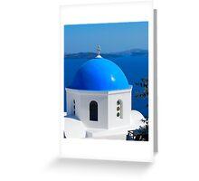 Oia Village Ancora, Satorini, Greece Greeting Card