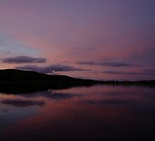 Peaceful late dusk reflections over Loch Spelve Scotland by John Butterfield