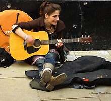 Street Musician - with a lovely voice by Charmiene Maxwell-batten