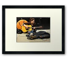 Street Musician - with a lovely voice Framed Print