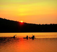 Kayaking on Brettun's Pond, ME by Debbie Robbins