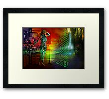 techno future Framed Print