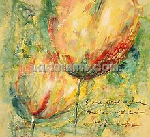Impression flower oil painting by jackie leung