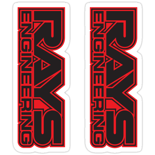 Rays Engineering (black / red) Decals (2) by avdesigns