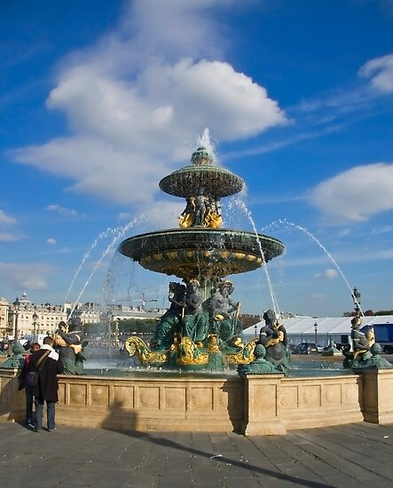Fountain at  Place de la Concorde(Color), Paris by Charuhas  Images