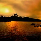 Amber Glow At Big Lake by Charles &amp; Patricia   Harkins ~ Picture Oregon