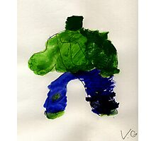 The Hunk Superhero Photographic Print