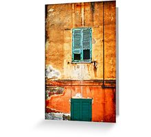 Italian green shutters Greeting Card