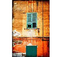 Italian green shutters Photographic Print