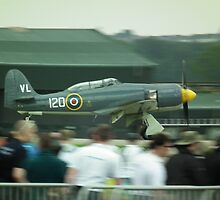 Fury landing in front of crowd by Andy Jordan