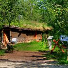 Pioneer Sod House by Larry Trupp