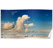 Morning Clouds Over the Gulf Poster