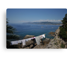 Shore Wash At Camogli Canvas Print