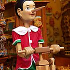 Pinocchio in Florence shop by Sherri Fink