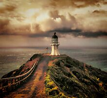 Lighthouse Cape Reinga - New Zealand. (I) by Lynne Haselden
